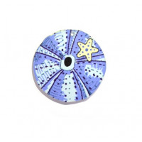 Colgante erizo verano plexy 50 mm - Color azul