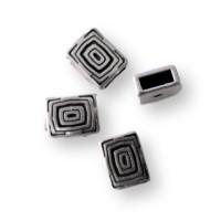 Entrepieza rectangular espirales ZAMAK 11x9 mm, taladro 6x2 mm