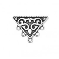 Colgante zamak baño plata entrepieza accesorio triangulo etnico con 5 anillas
