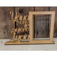 Marco de madera PERSONALIZADO 28x19 cm - POR ENCARGO