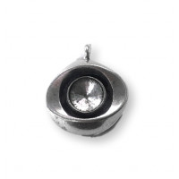 Colgante ojo Zamak baño plata base para rivoli 12 mm