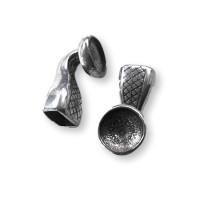Cierre Zamak baño plata ancla  autocierre 32x12  mm con huevo para Rivoli 12 mm
