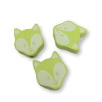Figurita PREMIUM-  Lobito 25x20 mm -  Verde limon