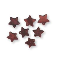 Colgante estrella rojo oscuro perlado plexy 12 mm