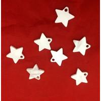 Colgante estrella blanco perlado plexy 12 mm