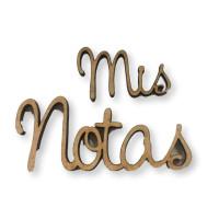Silueta madera 3 mm grueso- Mis Notas - 20 y 72 mm