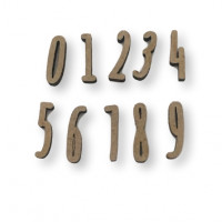 Letra manuscrita madera DM - Tamaño 2 cm - Numero 4