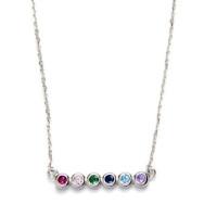 Gargantilla collar plata de ley rodiada y circonitas color  40+4 cm