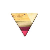 Triangulo multicolor- Colgante madera 43x37 mm
