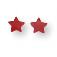 Plexy rojo- Colgante estrella 15 mm, int 1.2 m