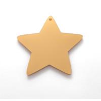 Plexy dorado - Estrella grande 60x60 mm, int 2.5 mm ( grabar)