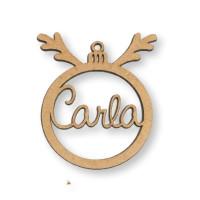 Bola de reno Navidad 9 cm nombre personalizado POR ENCARGO (15 días aprox)