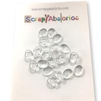 Lote decoraciones mix media -  20 gotas cristal ovaladas 10x8 mm