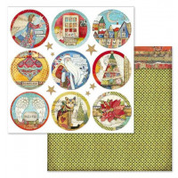 Papel scrapbooking 31.2x30.3 cm- Christmas Rounds SBB637