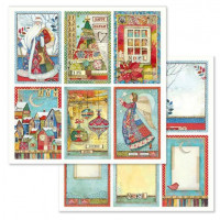 Papel scrapbooking 31.2x30.3 cm- Christmas Cards SBB636