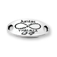 Juntas hasta el infinito y mas alla - Entrepieza Zamak baño plata (ZE241)