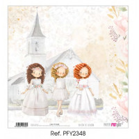 Un dia de ilusion 3 niñas Comunion 2020 - Papel scrap 30x30 cm PFY2348