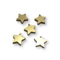 Plexy dorado- Colgante estrella 15 mm, int 1.2 m