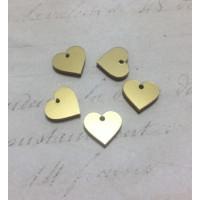 Plexy dorado - Colgante corazon 12.5 mm, int 1.2 mm