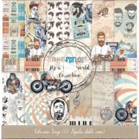 Kit 12 papeles - It´s a man world ( hombre)- Papel scrap 30x30 cm