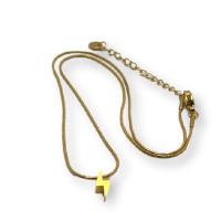 Rayo 3D - Choker cadena serpentina acero dorado 39 cm + 5 cm extendedora