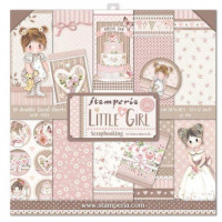 Pack scrapbooking Stamperia 30x30 cm- Little Girl - Set 10 pgs