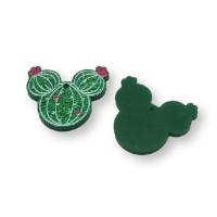 Plexy verde - Colgante cabeza de raton 28 mm, int 1.5 mm