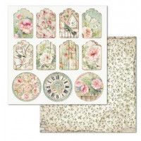 Papel scrapbooking 31.2x30.3 cm- Tag house of roses SBB677