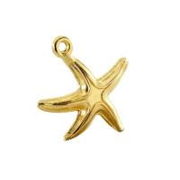 Colgante estrella de mar 17x16 mm - Colgante ZAMAK baño oro