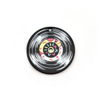 Plexy estampado - Colgante disco musica retro vinilo 40 mm
