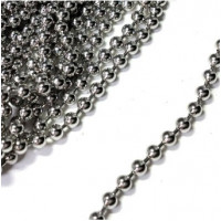 Cadena bolas bañada en plata- Bola 3.2 mm- 1 metro