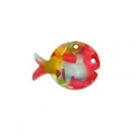 Colgante plexy  pez rojo mosaico 30x23 mm