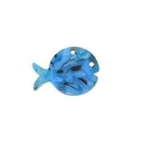 Colgante plexy  pez azul mosaico 30x23 mm
