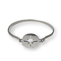 Base pulsera acero plateada caña 70 mm-  Modelo Estrella Polar