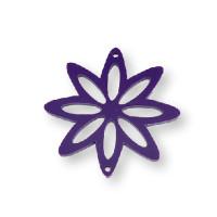 Plexy morado - Entrepieza flor 8 petalos 37 mm