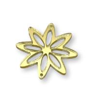 Plexy dorado espejo - Entrepieza flor 8 petalos 37 mm