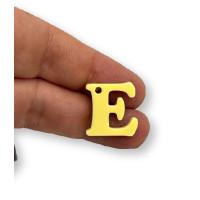 Letra E - Plexy amarillo pastel - Colgante letra inicial abecedario 18 mm, taladro 1.5 mm