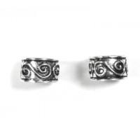 Pendiente de Cartilago earcuff en plata de ley - Aro simbolo espiral - 1 ud