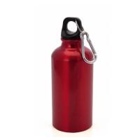 Botella de Aluminio capacidad 400 mL - Color Rojo (grabar)