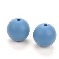 Bola de silicona 15 mm- Color Azul pastel 35