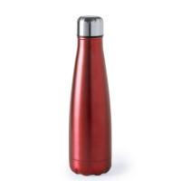 Botella de Acero capacidad  630 mL - Color Rojo ( grabar)