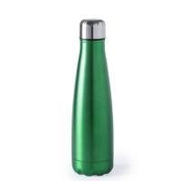 Botella de Acero capacidad  630 mL - Color Verde ( grabar)