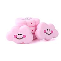 Nube sonrisa de silicona 27x22x8 mm- Color Rosa bebe