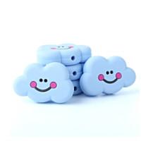 Nube sonrisa de silicona 27x22x8 mm- Color Azul bebe
