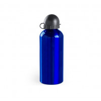 Botella de Aluminio capacidad 650 mL con dosificador y capucha - Color Azul (grabar)