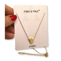 Angelito 3D - Cadena gargantilla acero dorado 46+ 5 cm extendedora