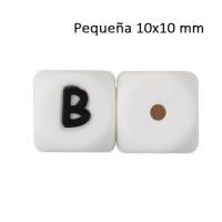 Cubo letra silicona 10x10 mm- Premium - Letra B