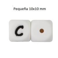 Cubo letra silicona 10x10 mm- Premium - Letra C