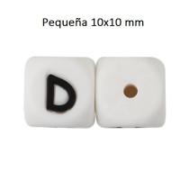 Cubo letra silicona 10x10 mm- Premium - Letra D