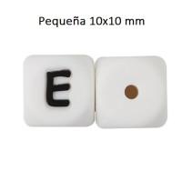 Cubo letra silicona 10x10 mm- Premium - Letra E